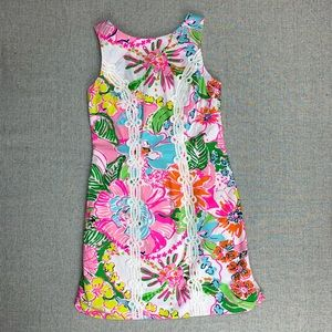 Lilly Pulitzer size 2 nosey posie shift dress NWOT
